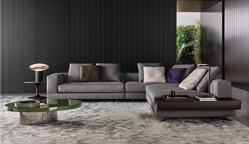 designm bel von b b italia und minotti im raum kirchentellinsfurt. Black Bedroom Furniture Sets. Home Design Ideas
